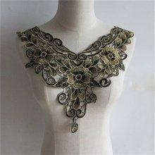 Черная бронзовая Водорастворимая Вышивка женская одежда кружевной