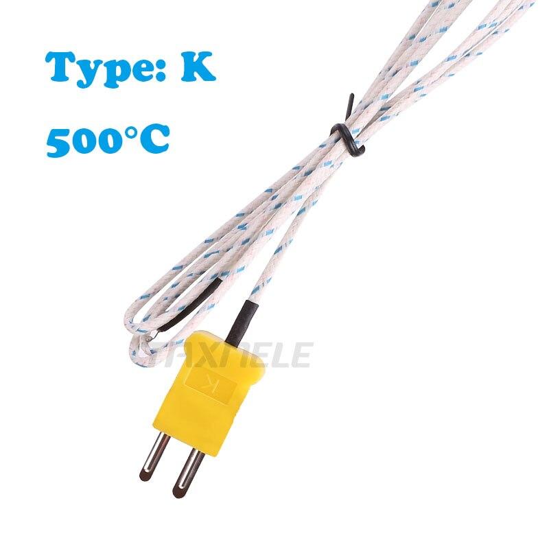 Длиной 1/1, 5/2/3 м, провод, K-type термометр, тест на линию 500 °C, сенсорный датчик термопары, тест-er, использовать для того, чтобы TP-01, для того, чтобы ...
