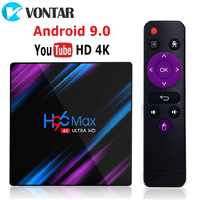 2020 H96 MAX RK3318 Dispositivo de tv inteligente Android 9,0 4GB 32GB 64 gb reproductor multimedia GB 4K Google asistente de voz de Netflix H96MAX TVBOX 2GB16GB