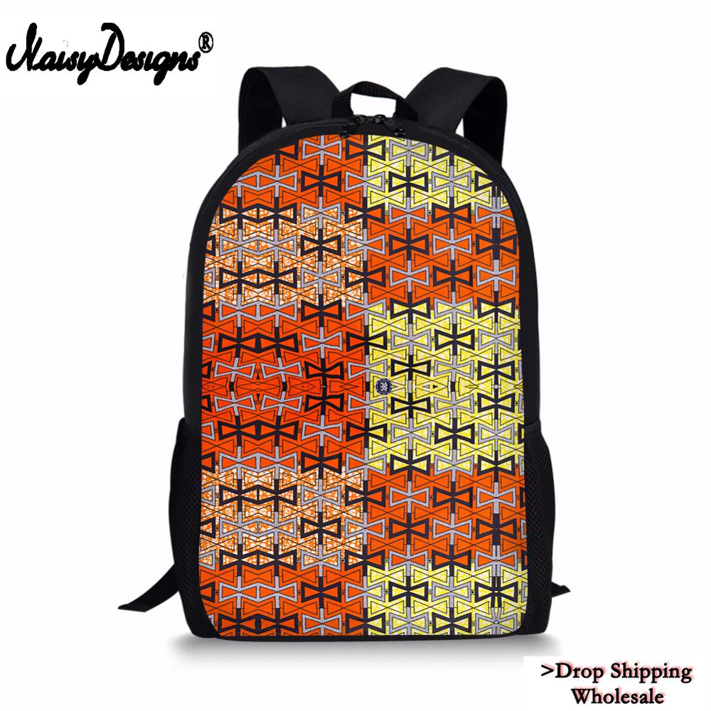 African wax print style backpack Womens laptop bag Every day carry Pink African print bag