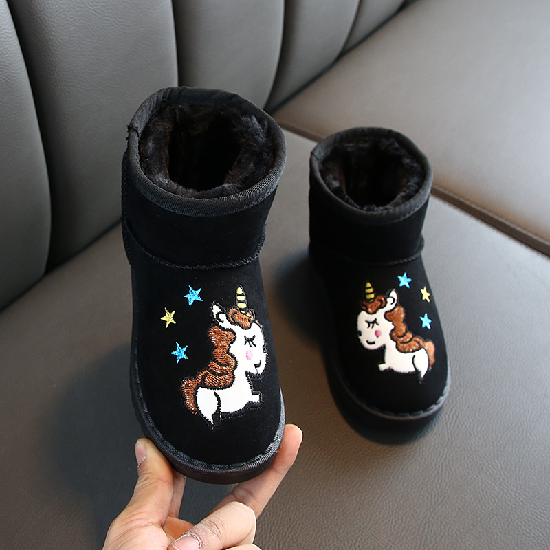 Winter Kids Boots Unicorn 2019 Children Snow Boots Fur Boys/girls Child Shoes Baby Plush Warm Shoes Anti-slip Comfortable Boots
