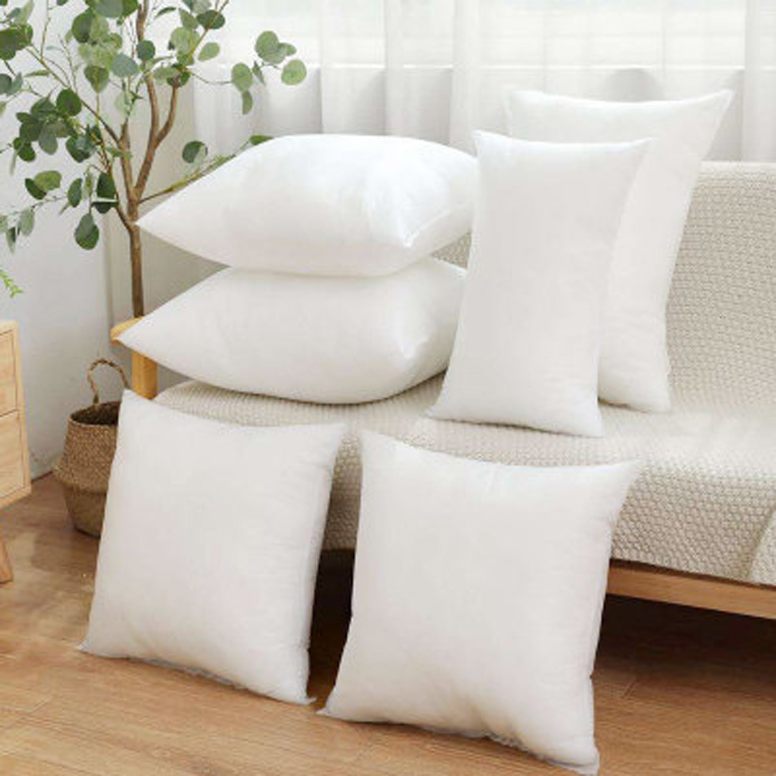 Домашняя Нетканая Подушка с внутренним наполнителем, шерстяная подушка с хлопковой подкладкой, мягкая подушка для дивана, подушка с внутре...