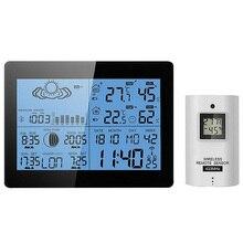AOK 5019 практичный офисный ЖК-гигрометр с дисплеем, многофункциональные домашние и уличные счетчики, часы, беспроводной термометр, метеостанция
