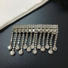 Crystal rhinestone tassel hair clip hair accessory barrette hair pin grip for women fashion 2019 недорого