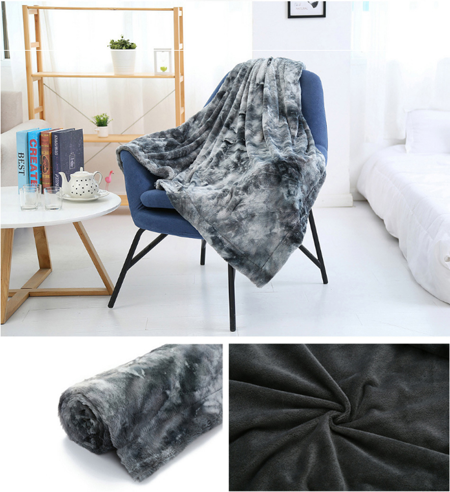 3 Sizes Throw Blanket For Sofa Soft Fur