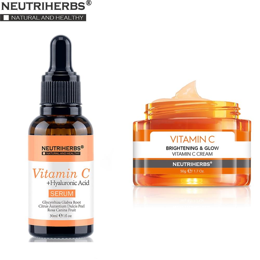Neutriherbs Vitamin C Serum And Face Cream  Anti Aging And Wrinkle Moisturizing Firming Skin Night Cream