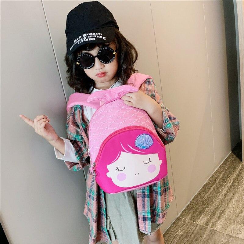 Cute Girls Kids Nursery Cartoon Mermaid School Bag  Lightweight Travel Shoulder Backpack
