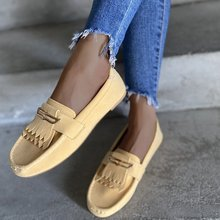 2021 New Round Head Tassel Shallow Mouth Flat Shoes Women s Peas Shoes Fashion Driving Shoes Lazy Shoes Plus Size Loafers
