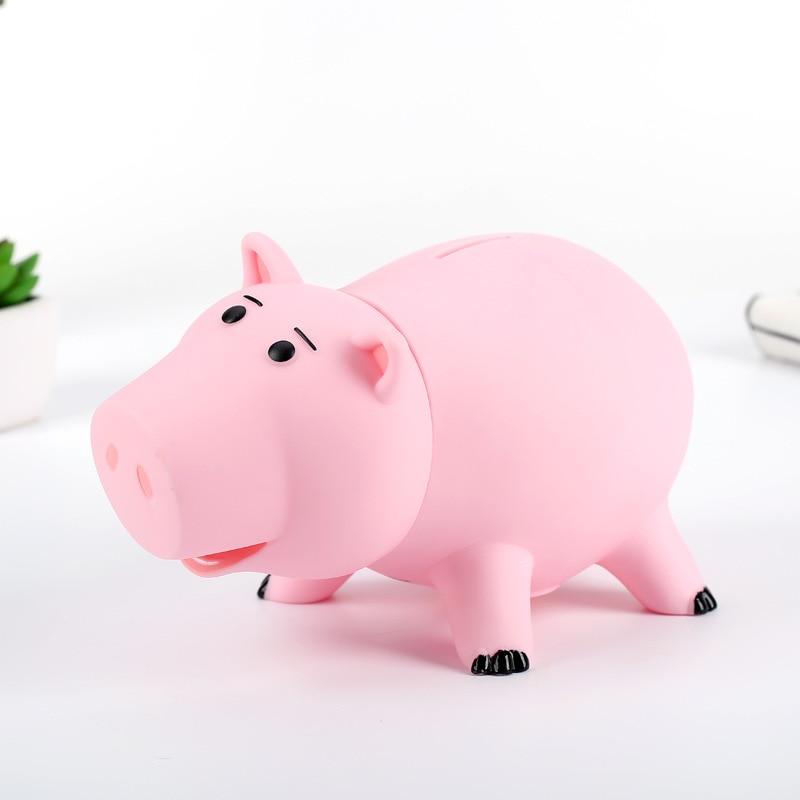Cute Toy Story 4 3 Hamm Piggy Bank Pink Pig Coin Box Anime PVC Toy Story 4 Hamm Piggy figure Doll Christmas Gift Kids Money Box