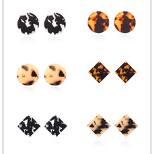 Sweet Rainbow Fashion Korean Resin Earrings For Women 2019 hot New Acetic Acrylic Trendy Geometric Jewelry