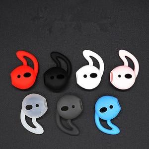 Moda universal caso do fone de ouvido capa silicone anti deslizamento de borracha macio orelha dicas tampões para iphone earpads eartips