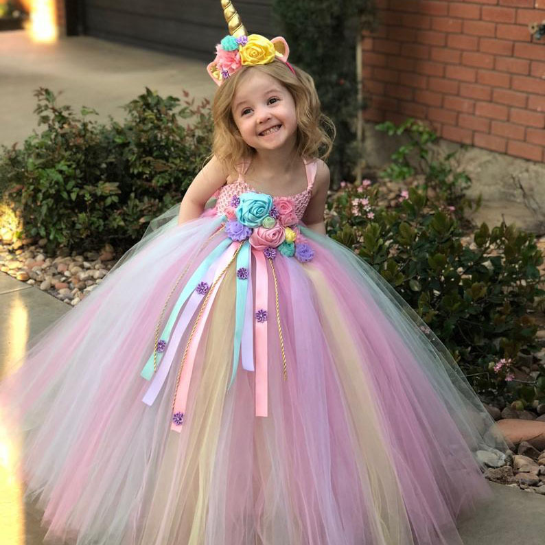 Girls Tutu Dress  Princess Unicorn Dress Party Costume