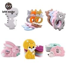 Silicone Teethers Cartoon Animals BPA Free 1pc Food Grade Teether DIY Teething Toys For Teeth Tiny Rod Baby