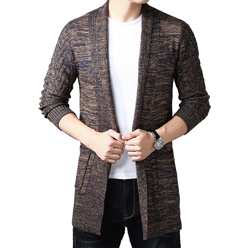 HO New Paragraph Sweater Man Grows In The Autumn 2019 Youth Sweater Long-sleeved Cardigan Cultivate One's Morality