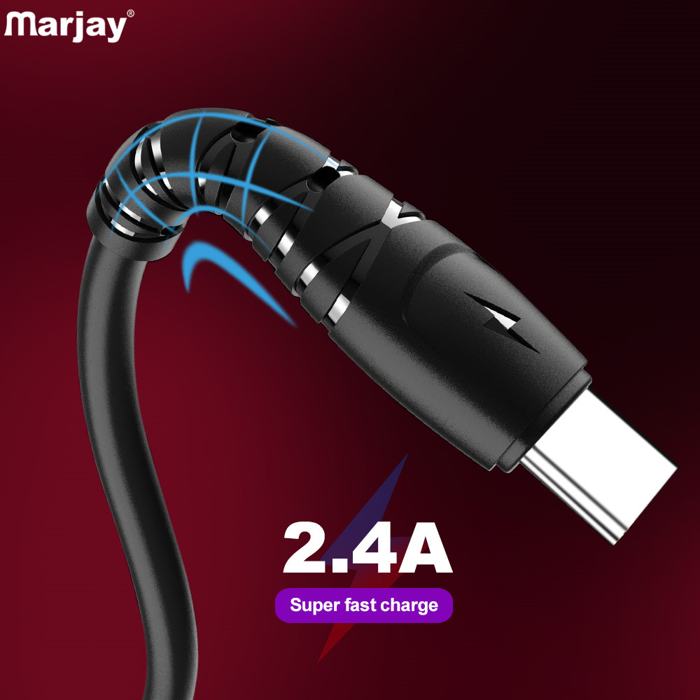 Marjay Type C Fast Charging Cable For Samsung S10 S9 S8 Fast Charger USB-C Cable For Xiaomi Redmi Wire Data Cord For Huawei P30