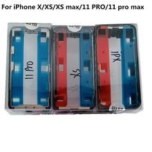 50pcs סיטונאי מסגרת Wtih דבק דבק מדבקה עבור iPhone X XS מקסימום 11 פרו מקס התיכון לוח החלפת זכוכית מסגרת LCD Reapir
