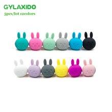GYLAXIDO 5 шт. Perle силиконовый массажер бусины грызунов 23 мм Siliconen Kralen Mordedor бусины BPA бесплатно DIY Детский аксессуар для прорезывания зубов игрушки