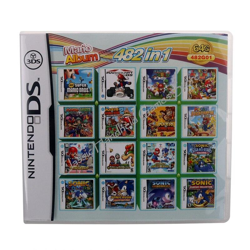 482 в 1 видеоигра картридж консоль карта для Nintendo DS 3DS 2DS