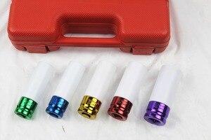 "Image 3 - 5pcs Thin Wall Alloy Wheel Nut Socket Deep Impact Socket Set 15mm 17mm 19mm 21mm 22mm 1/2"" Dr."