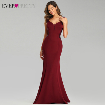 Sparkle Burgundy Evening Dresses Ever Pretty EP00687BD Spaghetti Straps V-Neck Sequined Mermaid Formal Party Gowns Abendkleider