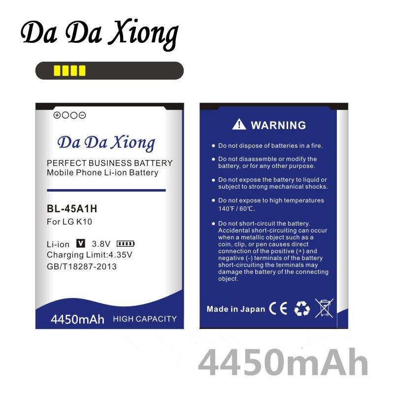 Da Da Xiong 4450mAh Bateria para LG K10 BL-45A1H BL45A1H F670L F670K F670S F670 K420N K10 LTE Q10 K420