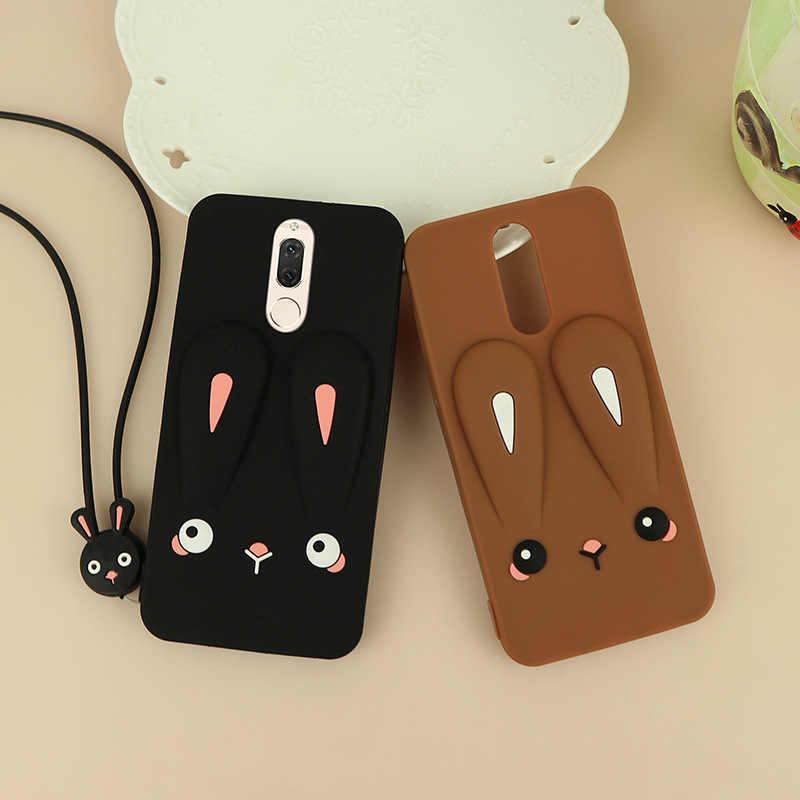 Huawei Maimang 6 Caso Do Telefone Do Silicone Das Senhoras Frescas Cordão Estéreo Quebrar-resistente Japonês Coreano Maimang 6 Caso de Telefone Ata