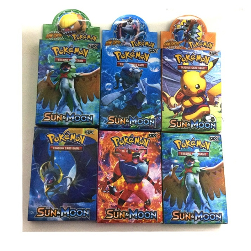 25pcs Card Pokemon TCG:Sun & Moon Normal  Collection Trading  Game Box Packaging Kids Toys Gift