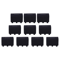 10 Pcs Battery Back Cover Door Shell Case for XBOX ONE Controller Black|Button Cell Batteries|Consumer Electronics -