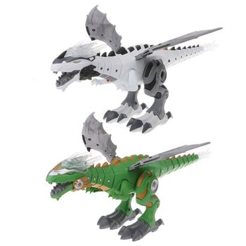 Electronic pet interactive spray dinosaur toy talking walking fire dragon boy kid christmas gift beautiful electronic