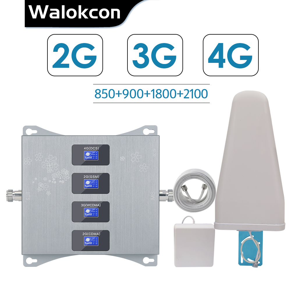 2g 3g 4g Quad Band Booster FOR Israel New Zealand 3g CDMA 850 2g GSM 900 DCS 1800 WCDMA 2100 Signal Repeater 2g 3g 4g Amplifier