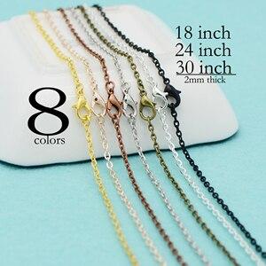 Image 5 - 100 pcs  18 Inch Antique Bronze Cable Chain necklace, 18 inch Chain Necklace, Antique Brass Chain Necklace, 45cm Bronze Necklace