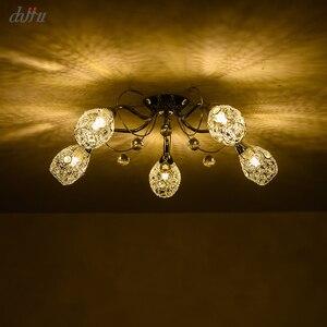 Image 2 - חדש led נברשת לסלון חדר שינה בית נברשת 25W 5 E14 הנורה Led hanglight זוהר קריסטל נברשות מנורה