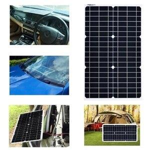 18 v/5 v 100 w painel solar mono células sem clipe de crocodilo + duplo usb 10/20a 12 v/24 v pwm controlador opcional para o carregador de bateria
