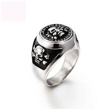 Luxury Punk style fashion jewelry 316L titanium steel rings king ring for men free shipp