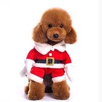 Christmas Pet Clothes Cute Santa Claus Dog Cat Clothes Christmas Pet Clothes with Santa Hat Dog decoration 1 set