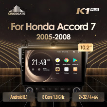 Kingbeats Android 8.1 Head Unit 4G In Dash Auto Radio Multimedia Video Player Navigatie Gps Voor Honda Accord 7 cm Uc CL2005 2008(China)