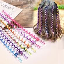 6 Pièces/ensemble Filles Mignon Coloré Cristal Longue Spirale Bandeaux Bandeaux Tresse Cheveux Ornement Bandeau Enfants Accessoires De Cheveux De Mode