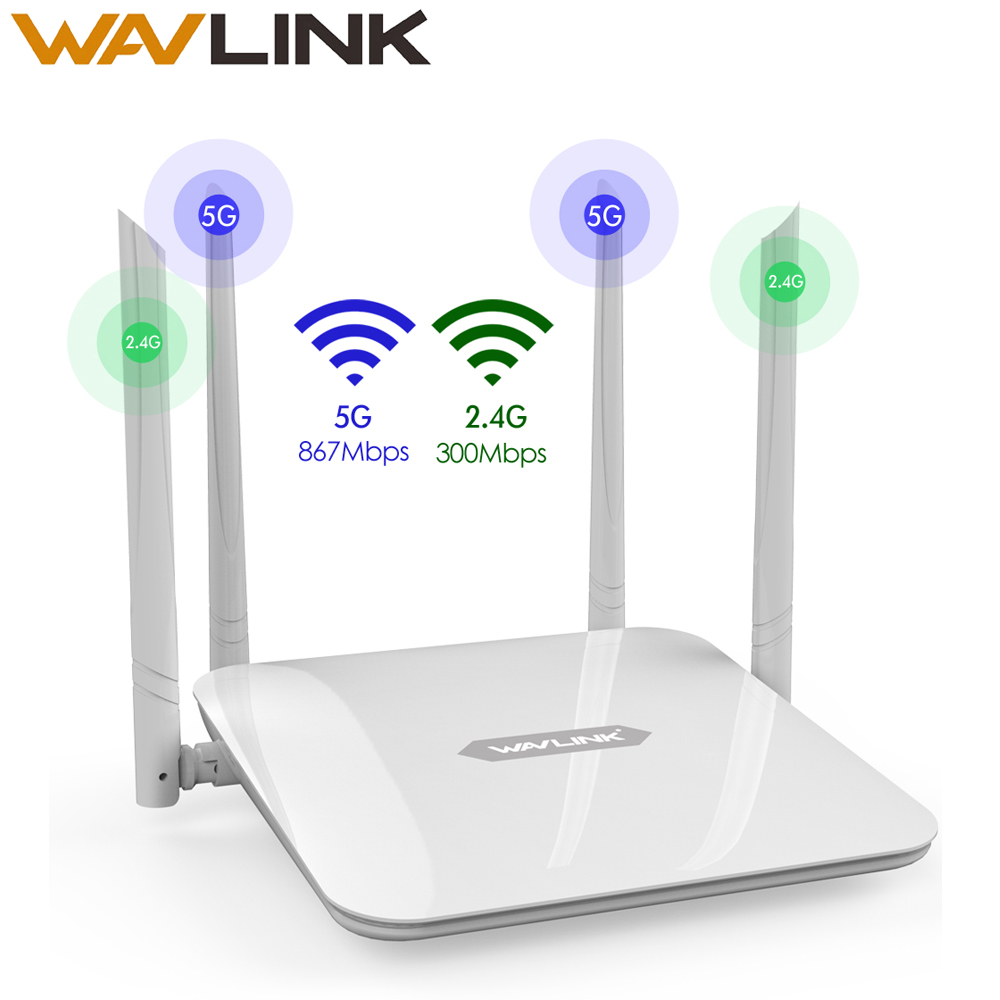 Gigabit Router AC1200 5G 867Mbps & 2.4G 300Mbps Dual Band Wireless Wifi Extender WiFi Router High Power Wi Fi Amplifiers Wavlink