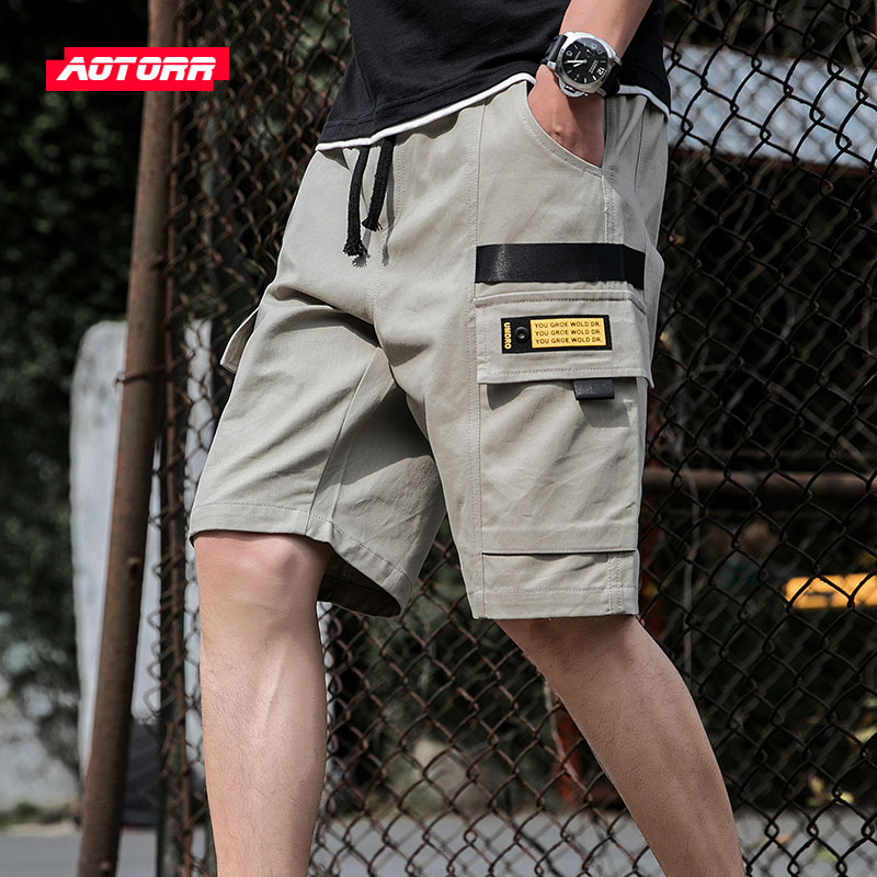 Mens Shorts Cargo Fitness Sport Cotton Summer Casual Harajuku Fasion High-Quality