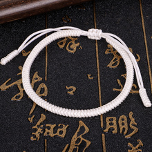 Tybetańska bransoletka buddyjska czysta miłość bransoletki z amuletami szczęścia i Bangles dla kobiet mężczyzn Handmade King Kong węzłów liny Budda Amulet tanie tanio Modeschmuck Charm bransoletki Unisex Brak Moda Etniczne COTTON Łańcuch liny ROUND 2600 Lace-up