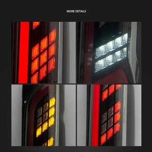 Image 5 - LED Tail Light for Assembly for TOYOTA HIACE 2005   2018 LED Tail Light Reverse Light Sequential Turning Signal Light Rear Fog