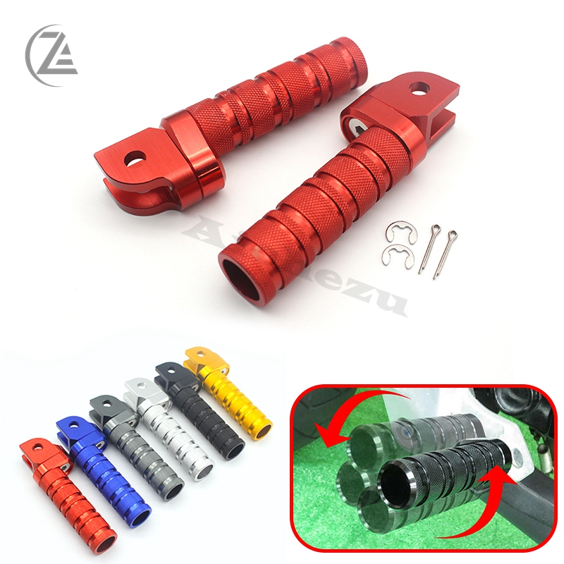 ACZ Motorcycle 1 Pair CNC Front Foot Pegs Footrest Adjustable Foot Rests For Kawasaki Ninja ZX10R ZX636 ZX6R ZX9R Z1000 Z750