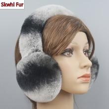 2021 Hot Sale Winter Warm Women Real Rex Rabbit Fur Earmuffs Rex Rabbit Fur Earmuff Lovely Girl Genuine Rex Rabbit Fur Ear-caps