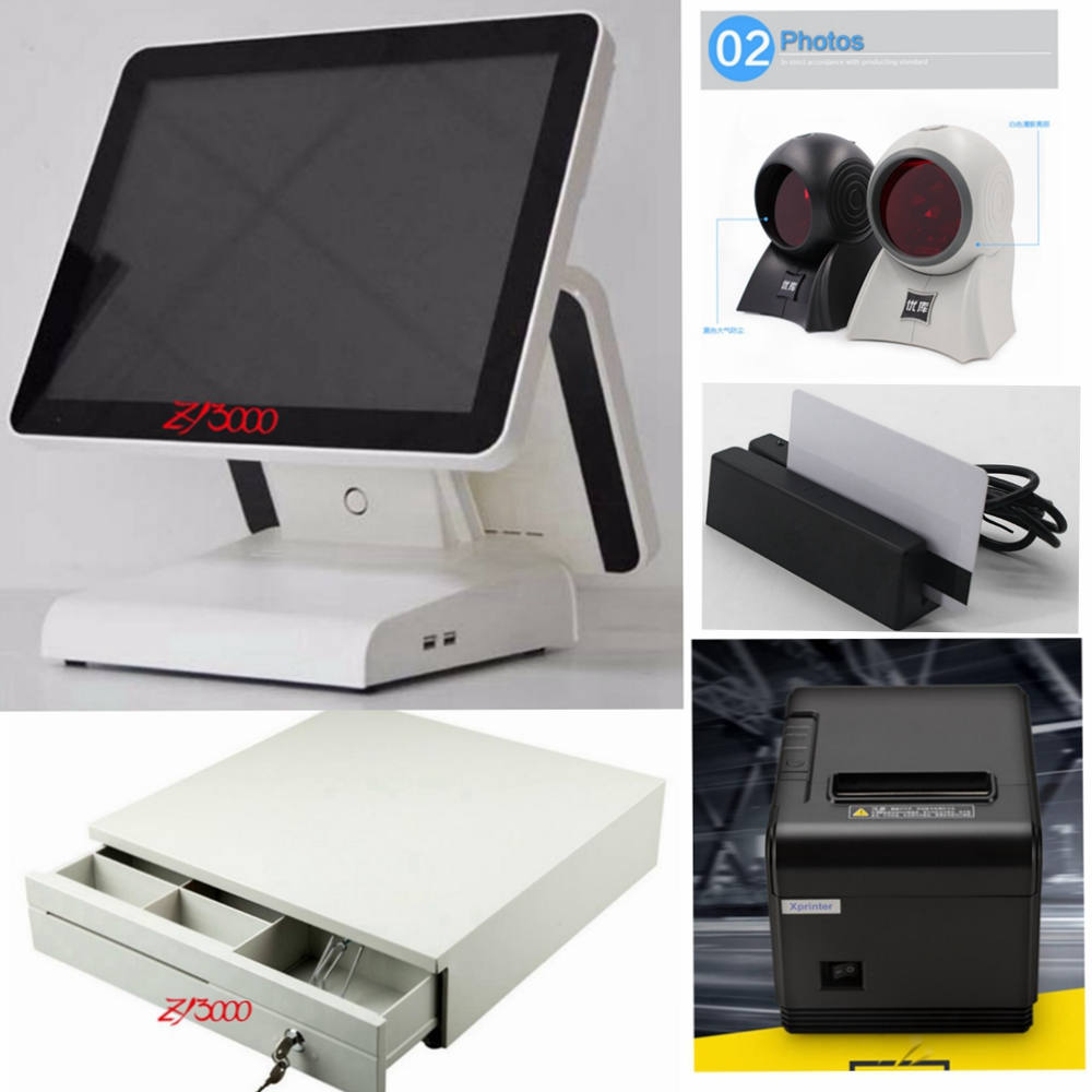 Pos Computer/ Cash Register With 58 Mm Pos Printer Cash Drawer For Retail/restaurant Pos System