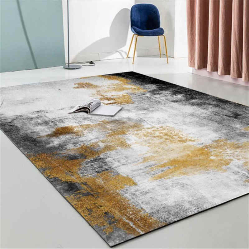 Carpets For Living Room Abstract Black Gray Gold Ink Pattern Carpet Bedroom Carpet Christmas Rug Grey Modern Home Decor Carpet Aliexpress