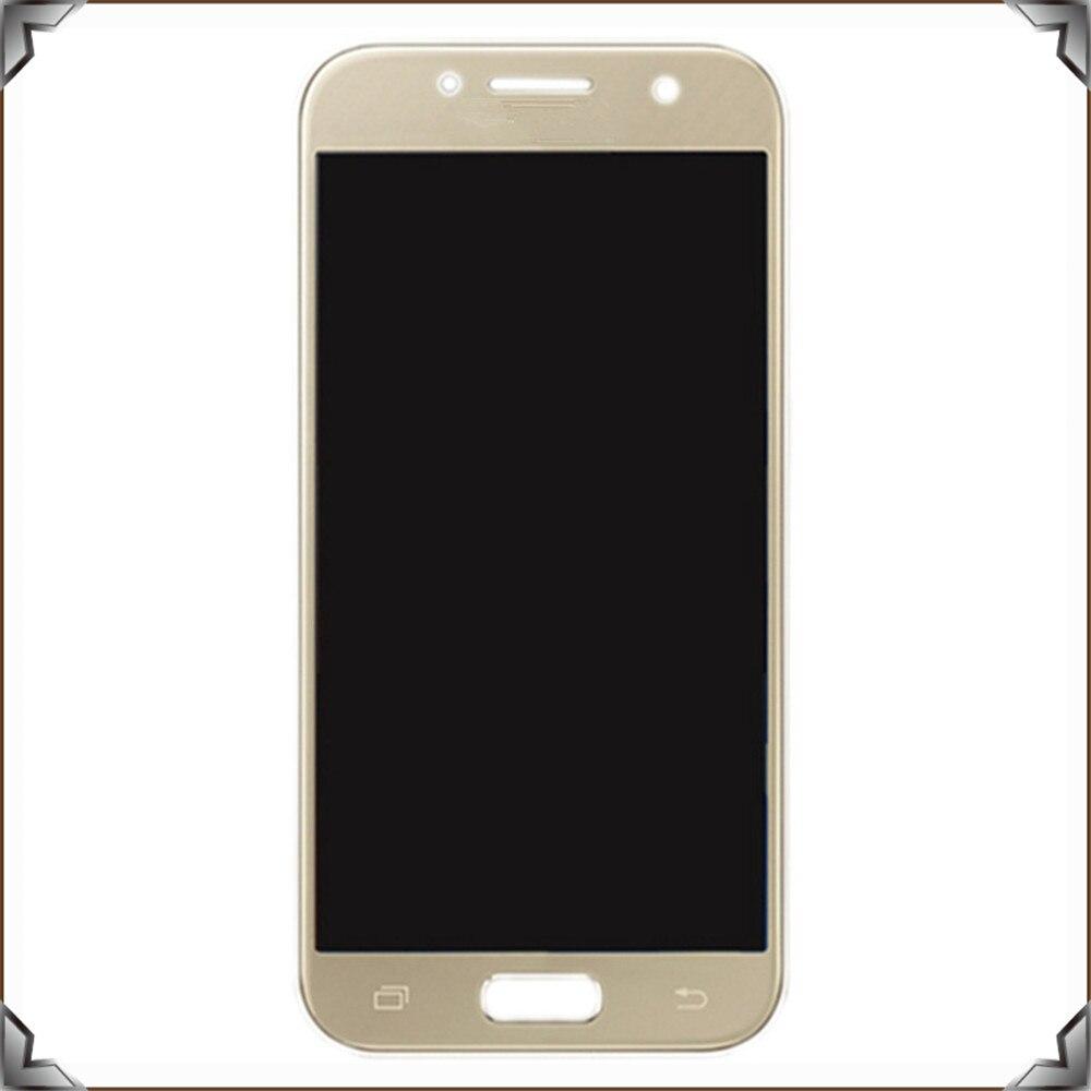 Pièces de rechange de téléphone portable d'oem d'affichage numérique d'écran tactile d'affichage à cristaux liquides pour la galaxie a3 2017 a320 de Samsung