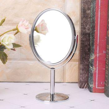 Uroda makijaż lusterko kosmetyczne dwustronne normalne lusterko stojące E65F tanie i dobre opinie Nie posiada CN (pochodzenie) Metal glass Lusterko do makijażu Ellipse Size 16 5cm x 8cm 6 5 x 3 inch (H x D) 2-face