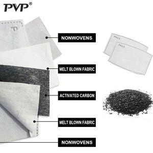 Image 3 - PVP 1 шт хлопок PM2.5 Детская Женская защита от пыли милый Пингвин Принт угольный фильтр ветрозащитные маски + 2 фильтра