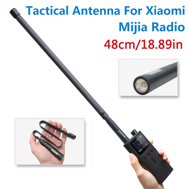 ABBREE SMA Female Dual Band 144/430Mhz Foldable CS Tactical Antenna For Xiaomi Mijia Smart Walkie Walkie Talkie Ham Radio