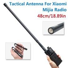 Abbree sma fêmea dupla banda 144/430 mhz dobrável cs antena tática para xiaomi mijia inteligente walkie talkie rádio presunto